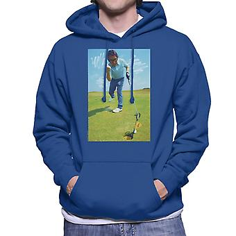 TV Times Ronnie Corbett Playing Golf 1971 Men's Hooded Sweatshirt