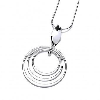 Cavendish francuski kręcenie wisiorek srebrne obręcze bez łańcucha