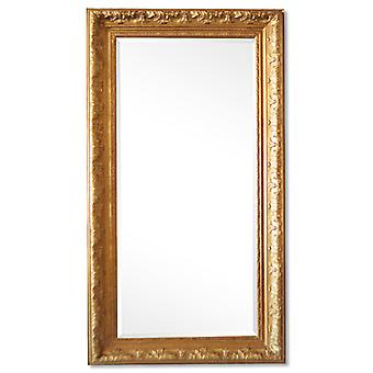 Large mirror in gold France designs, dimensions 56x106 cm