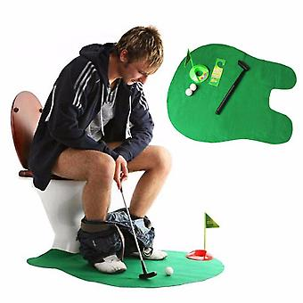 Potty Putter Toilet Golf Game Mini Golf Set toilet Putting Green Novelty Game toy gift for men and women