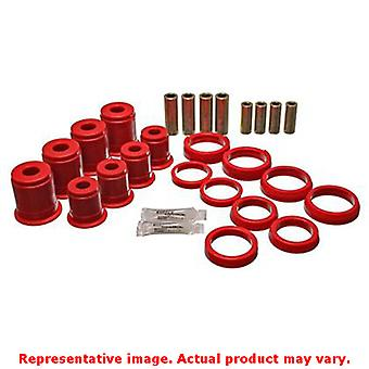 Energy Suspension Control Arm Bushing Set 2.3102R Red Front / Rear Fits:JEEP 19