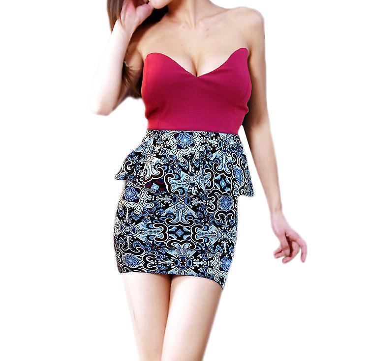 Waooh - Fashion - printed strapless dress