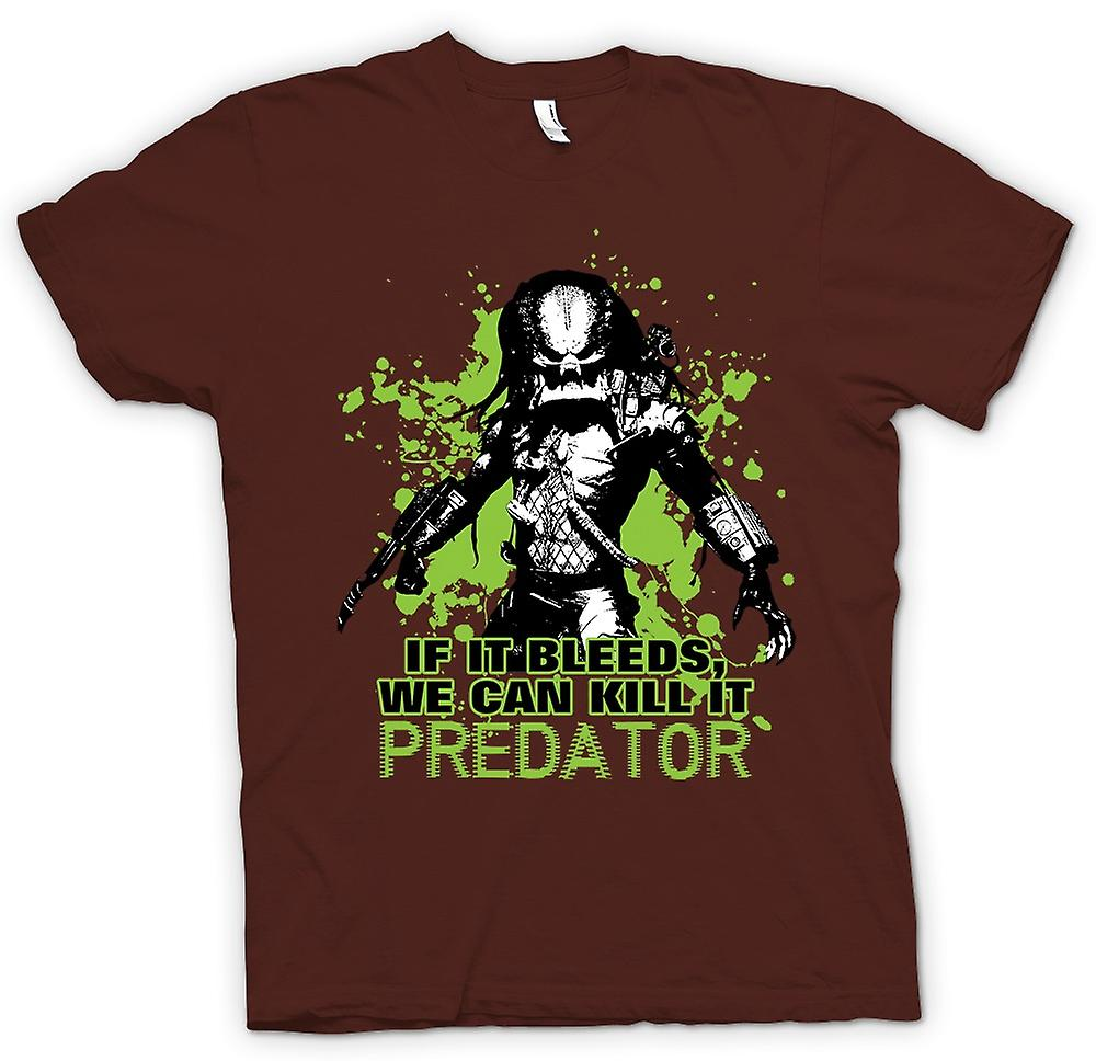 Mens T-shirt - Predator If It Bleeds kunnen wij - Funny