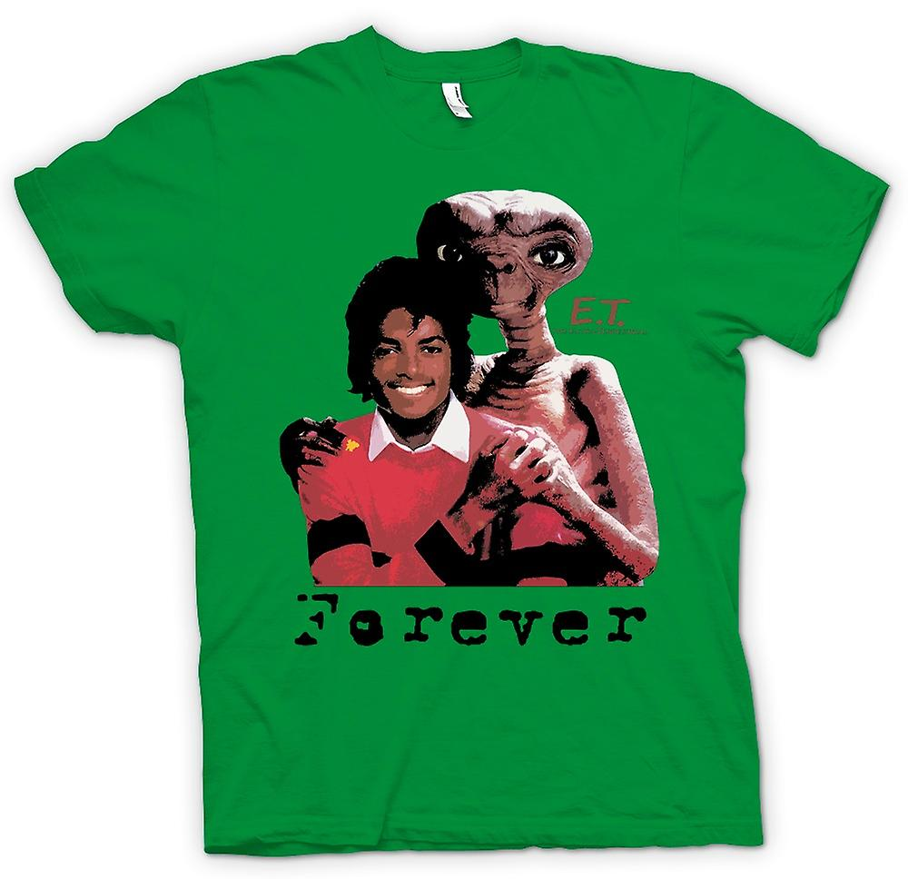 Hombres camiseta-Et Michael Jackson - Forever Alien
