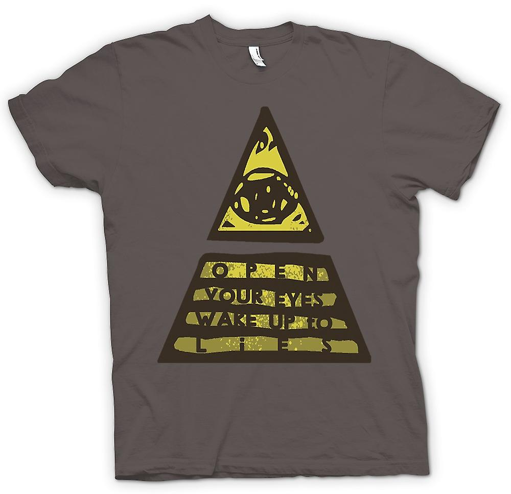 Womens T-shirt - Illuminati Wake Up To The Lies