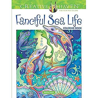 Creative Haven Fanciful Sea Life Coloring Book