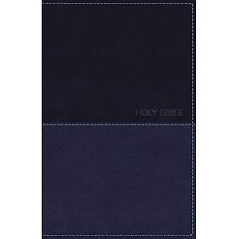 Versión Reina-Valera, Biblia de lujo de regalo, imitación cuero, azul, rojo carta edición, comodidad imprimir