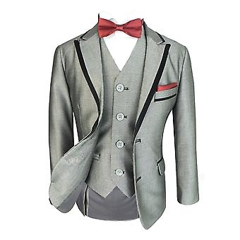 Chicos exclusivos Slim Fit smoking gris luz cena traje de Romano