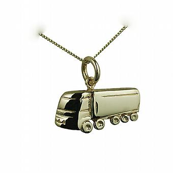 9ct Gold 10x20mm hollowed out at back HGV Pendant with a curb Chain 16 inches Only Suitable for Children