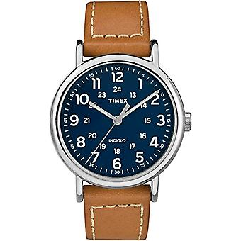 Timex Quartz Analog leather strap Unisex Adult TW2R42500JT