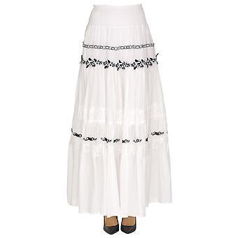 Pinko White Cotton Skirt