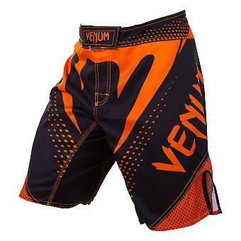 Venum Mens Hurricane MMA Training Fight Shorts - Black/Neo Orange