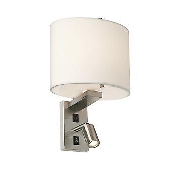 Elstead-2 lys væg lys-børstet nikkel finish-BELMONT/2W