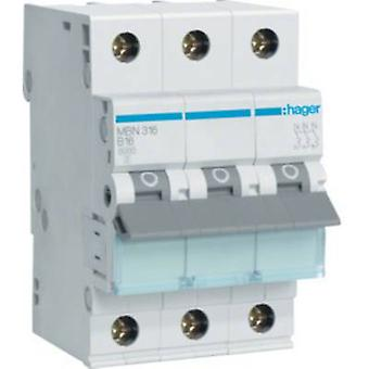 Hager MBN316 Circuit breaker 3-pin 16 A