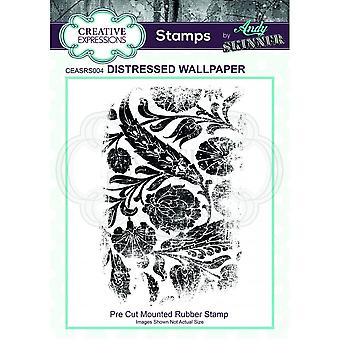 Creative Expressions Andy Skinner Distressed Wallpaper Stamp