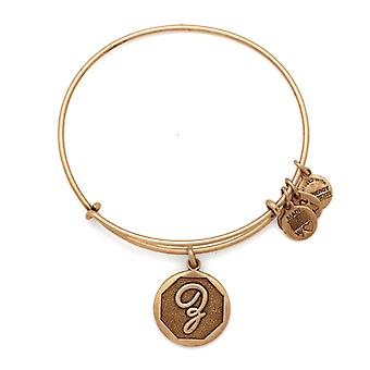 Alex en Ani Initial Z Gold Bangle A13EB14ZG
