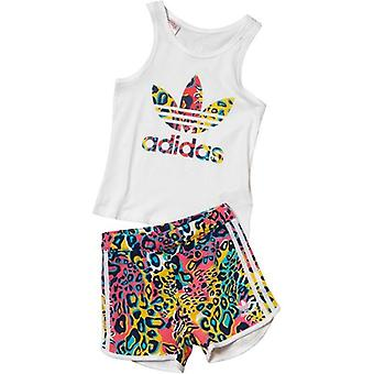 Adidas Originals Infant Girls Trefoil Tank And Shorts Set - AI9998