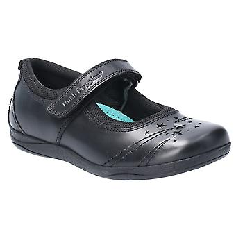 Hush Puppies Filles Amber School Chaussures Black F Fitting