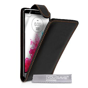 YouSave Accessories LG G3 Leather-Effect Flip Case - Black