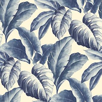 Grandeco botaniske tropiske blader mønster Wallpaper Tree Leaf teksturert motiv BA2402