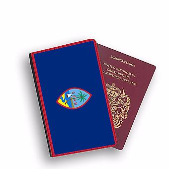 GUAM Flag Passport Holder Style Case Cover Protective Wallet Flags design