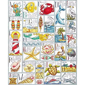 Ocean Abc Counted Cross Stitch Kit 16