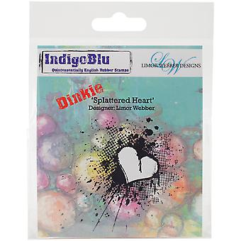 IndigoBlu Cling Mounted Stamp-Splattered Heart - Dinkie IND0145