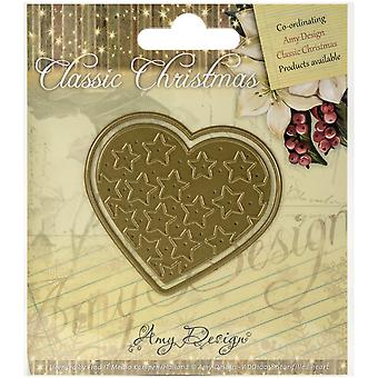 Find It Trading Amy Design Classic Christmas Die-Star-Filled Heart ADD10018