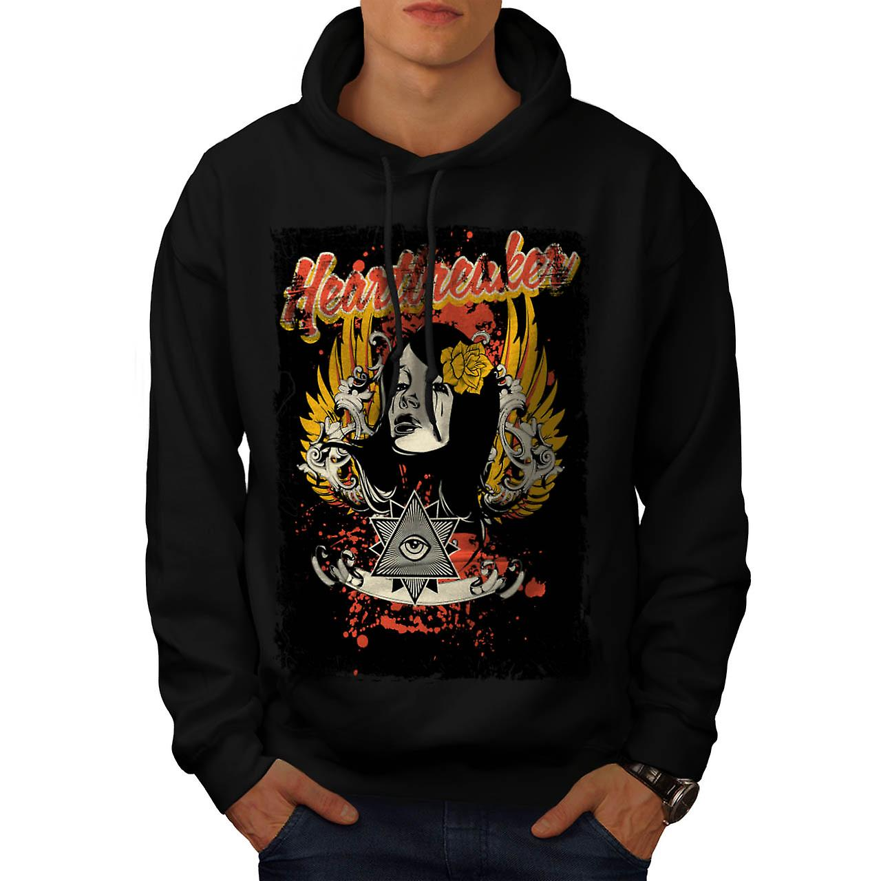 Heart Breaker Society Illuminati Men Black Hoodie | Wellcoda