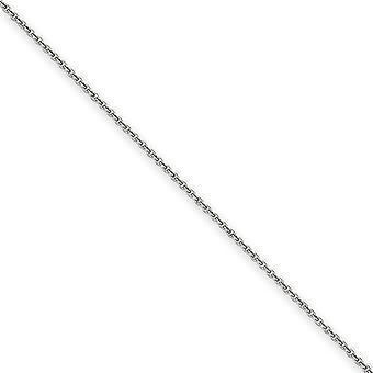 14k oro bianco Lobster Claw 1,5 mm tinta lucido collana a catena - lunghezza del cavo: 14-30