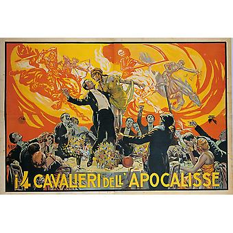 Film Poster For The Four Horsemen Of The Apocalypse By Unknown Artist 1922 20Th Century Print Cm 135 X 195 - Private Collection Film Poster Everett CollectionMondadori Portfolio Poster Print