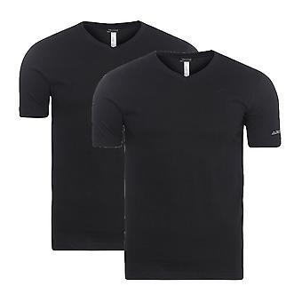 2 Pack Kappa Sebbo 2 shirt men's T-Shirt vest black 704142 005