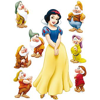 Adhesive wall decoration Disney Princess snow white and the seven dwarfs 65x85cm