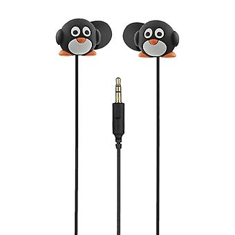 MY DOODLES Headphone Penguin White In-Ear