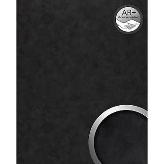 Wall Panel vintage look WallFace 19336 CLASSY BLACK decor Panel in metal look shiny smooth adhesive abrasion resistant black black grey 2.6 m2