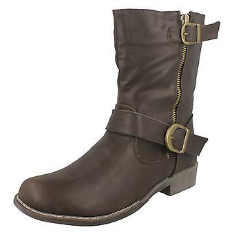 Kære plet på spænde detaljer lav hæl kalv Boot