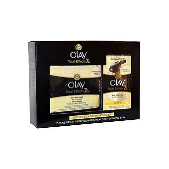 Olay Total Effects 7 in One Age Defying Moisturiser 37ml Total Effect Wet Wipes Pack of 20