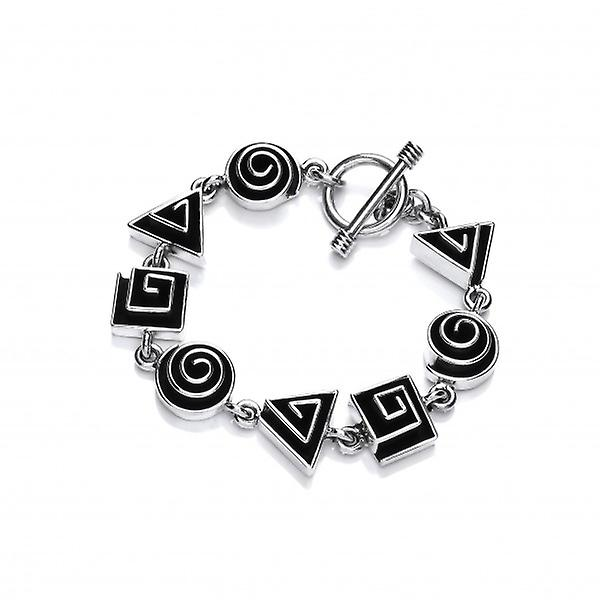 Cavendish French Sterling Silver 3-D Geometric Maze Bracelet