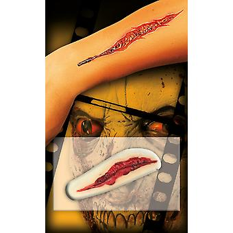Wound scar cut wide self-adhesive silicone Halloween horror