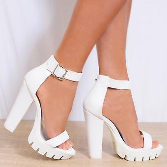 Koi Couture Ladies Hd3 White High Heels