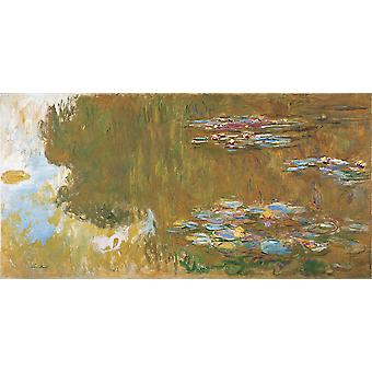 Claude Monet - The Water Lily Pond Poster Print Giclee