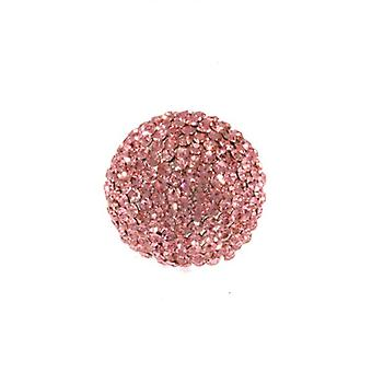 W.A.T Pale Pink Sparkling Crystal Ball Ring