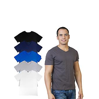Agiato mænds grundlæggende V hals T-Shirt 6-Pack
