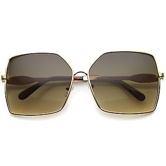 Damen Metall Square Sonnenbrillen mit UV400 geschützt Gradient Lens