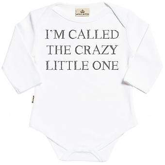Spoilt Rotten I'm Called The Crazy One Organic Baby Grow