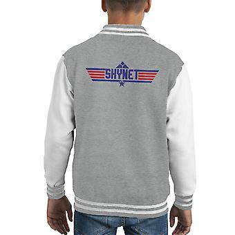 Top Varsity Jacket Gun Logo Skynet Terminator niños
