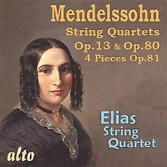 Elias String Quartet - Mendelssohn: String Quartets Op. 13 Op. [CD] USA import