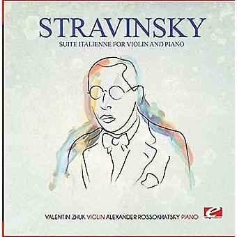Stravinsky - Suite Italienne for Violin & Piano (Incomplete) [CD] USA import