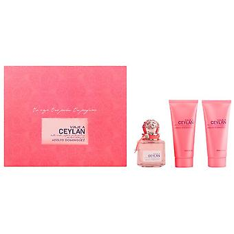 Adolfo Domínguez Ceylan Woman Eau De Toilette 100Ml Vapo. + Body Milk 100ml + Gel 100Ml