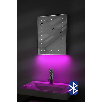 Shaver Mirror with UnderLighting, Bluetooth, Demist & Sensor k163aud